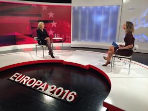 The European Ombudsman in an interview with the Spanish TV channel TVE in Madrid.