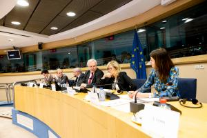The European Ombudsman exchanging views with the European Parliament's Legal Affairs Committee.