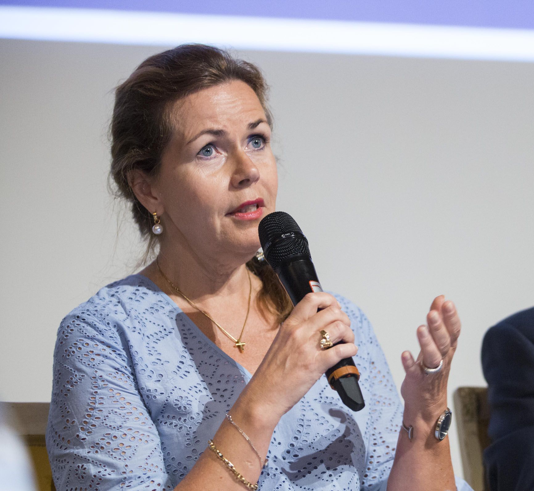 Cecilia Wikström, Chair of the European Parliament's Committee on Petitions, during the 2017 annual conference of the European Network of Ombudsmen.