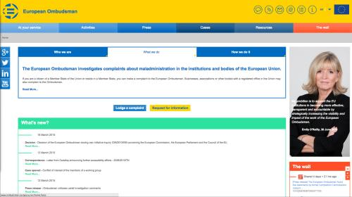 The European Ombudsman's Interactive Guide helps 20 000 citizens a year find the right problem-solving body to contact