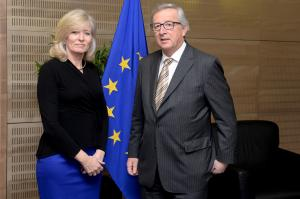 The European Ombudsman meeting the President of the European Commission, Jean-Claude Juncker.