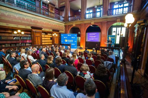 La cérémonie du Prix d'excellence de la bonne administration s'est déroulée à la bibliothèque Solvay, à Bruxelles.