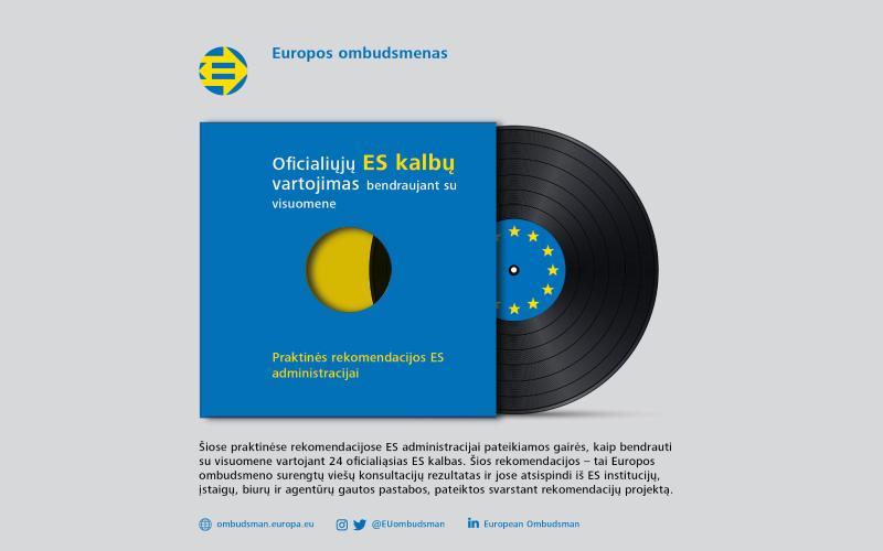 ![Ombudsmenas skelbia ES administracijai skirtas oficialiųjų ES kalbų vartojimo gaires]