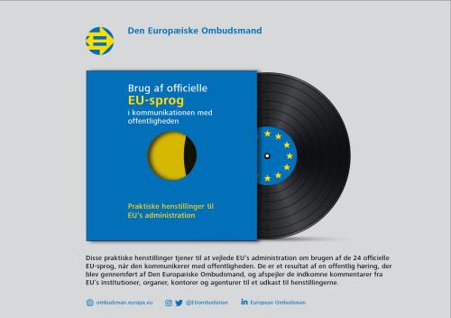 Brug af officielle EU-sprog