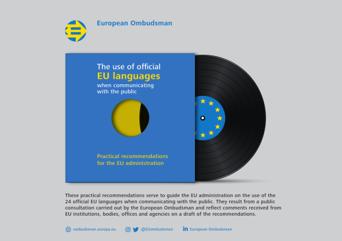 The use of official EU languages