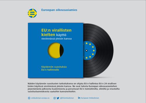EU:n virallisten kielten käyttö