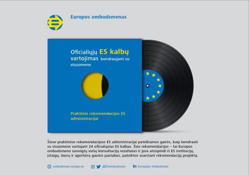 Oficialiųjų ES kalbų vartojimas