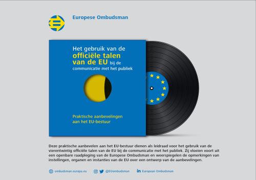 Het gebruik van officiële talen van de EU