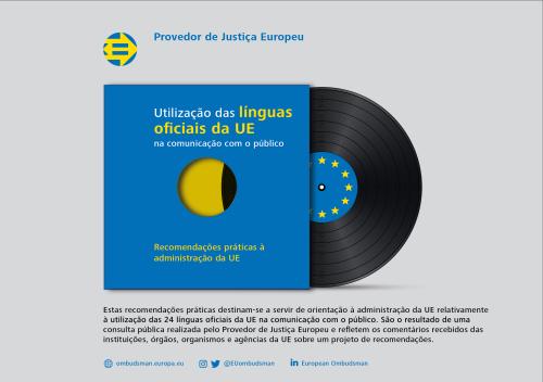 Utilização das línguas oficiais da UE