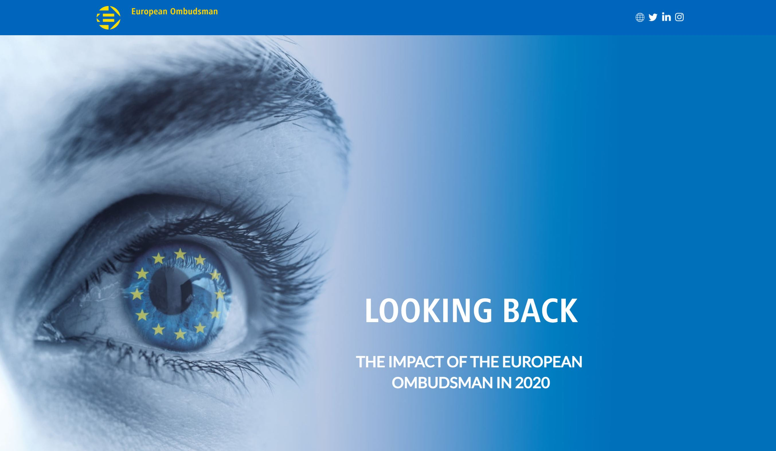 Looking Back - The impact of the European Ombudsman in 2020